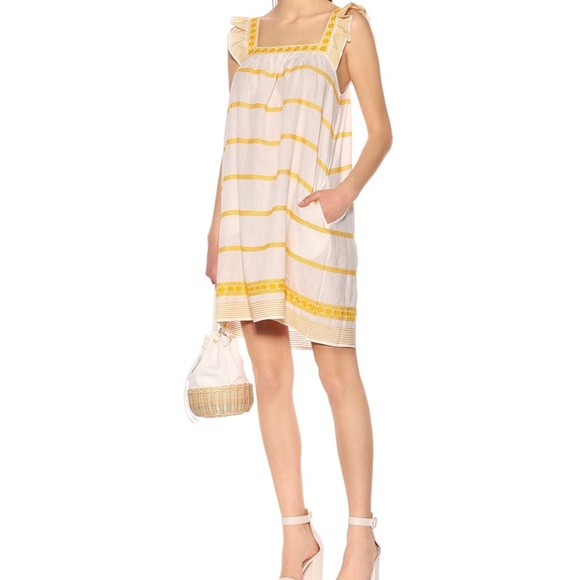 Tory Burch Embroidered Ruffled Dress 🌞